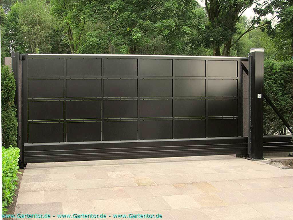 schiebetore freitragend mit elektrischem torantrieb. Black Bedroom Furniture Sets. Home Design Ideas